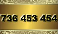 zlaté  číslo - 736 453 454 T-mobile