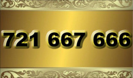 zlaté  číslo - 721 667 666 - O2 www.extracisla.cz