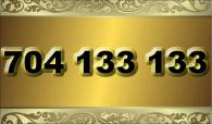 zlaté  číslo - 704 133 133