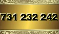 zlaté  číslo - 731 232 242  T-mobile