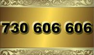 zlaté  číslo - 730 606 606