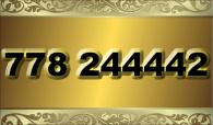 zlaté číslo - 778 244442