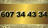 zlaté  číslo - 607 34 43 34 - O2