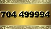 zlaté  číslo - 704 499994