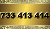 zlaté  číslo - 733 413 414 T-mobile