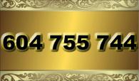 zlaté  číslo - 604 755 744  T-mobile