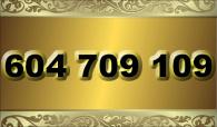 zlaté  číslo - 604 709 109  T-mobile