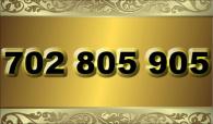 zlaté  číslo - 702 805 905