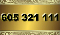 zlaté  číslo - 605 321 111 - T-mobile