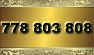 zlaté  číslo - 778 803 808