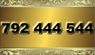 zlaté  číslo - 792 444 544