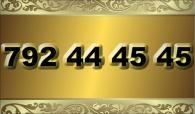 zlaté  číslo - 792 44 45 45