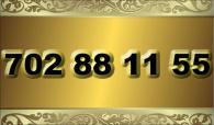 zlaté  číslo - 702 88 11 55