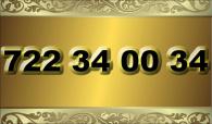 zlaté  číslo - 722 34 00 34 - O2