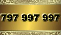 zlaté číslo -  797 997 997