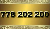 zlaté  číslo - 778 202 200