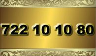 zlaté  číslo - 722 10 10 80   -  O2