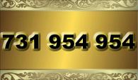 zlaté  číslo - 731 954 954  T-mobile