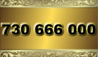 zlaté  číslo - 730 666 000