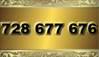 zlaté  číslo - 728 677 676  -  O2