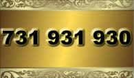 zlaté  číslo - 731 931 930  T-mobile
