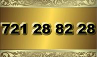 zlaté  číslo - 721 28 82 28 - O2