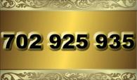 zlaté  číslo - 702 925 935