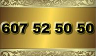 zlaté  číslo - 607 52 50 50 - O2