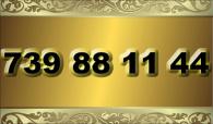 zlaté číslo - 739 88 11 44  T-mobile