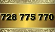 zlaté  číslo - 728 775 770  -  O2