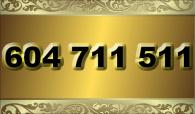zlaté  číslo - 604 711 511  T-mobile