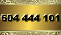 zlaté  číslo - 604 444 101  T-mobile
