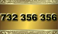 zlaté  číslo - 732 356 356 T-mobile