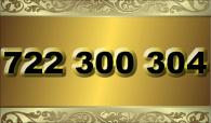 zlaté  číslo - 722 300 304   -  O2