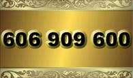 zlaté  číslo - 606 909 600 - O2