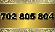 zlaté  číslo - 702 805 804