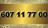 zlaté  číslo - 607 11 77 00 - O2