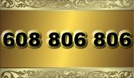 zlaté číslo -  608 806 806 - Vodafone