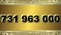 zlaté  číslo - 731 963 000  T-mobile