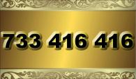 zlaté  číslo - 733 416 416 T-mobile