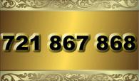 zlaté  číslo - 721 867 868 - O2