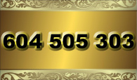 zlaté  číslo - 604 505 303   T-mobile