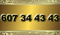 zlaté  číslo - 607 34 43 43 - O2