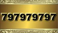 zlaté číslo -  797979797