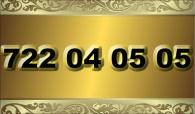 zlaté  číslo - 722 04 05 05   -  O2