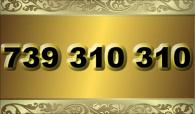 zlaté číslo - 739 310 310  T-mobile