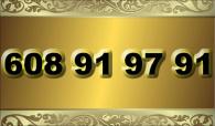 zlaté  číslo - 608 91 97 91 -  Vodafone