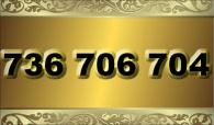 zlaté  číslo - 736 706 704 T-mobile