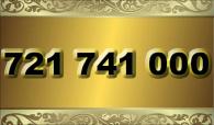 zlaté  číslo - 721 741 000 - O2