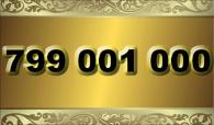 zlaté  číslo - 799 001 000